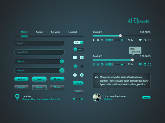 32 absolutely fresh and free psd web elements for designers designbeep