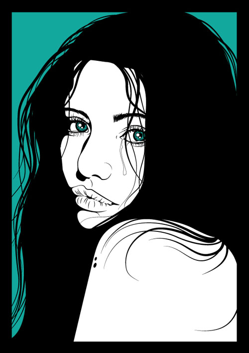 Line Drawing Effect Photo : Best adobe illustrator portrait tutorials designbeep