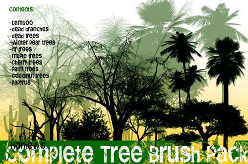 1.photoshop tree brushes