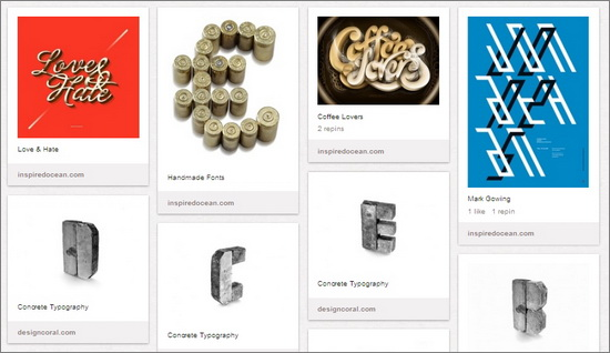 Pinterest Boards for Typography Inspiration