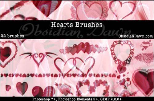 photoshop heart brushes