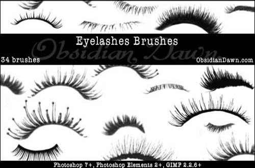 27 Sets Of Free Eye Brushes For Photoshop (eyelash,iris,eyeshadow ...