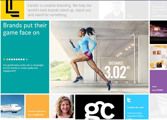 colorful grid style websites