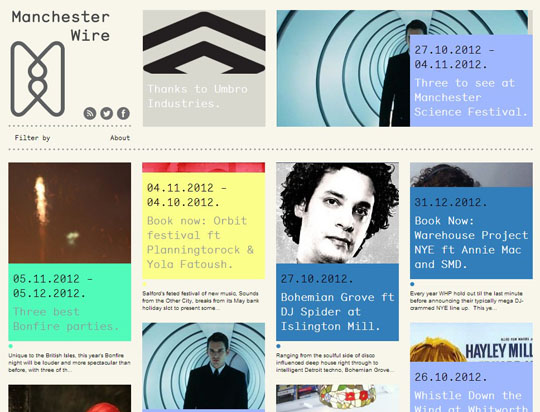 9.colorful grid style websites