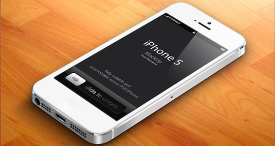 34 view psd - Iphone 5s Mockup Free