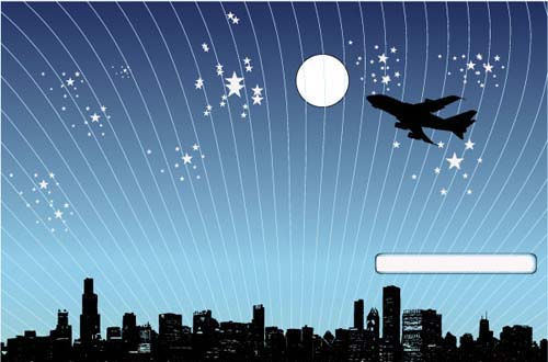 1.night scene vectors