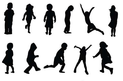 Party People Silhouette Vector Free Vector People Silhouettes