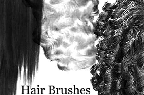 photoshop hair brushes