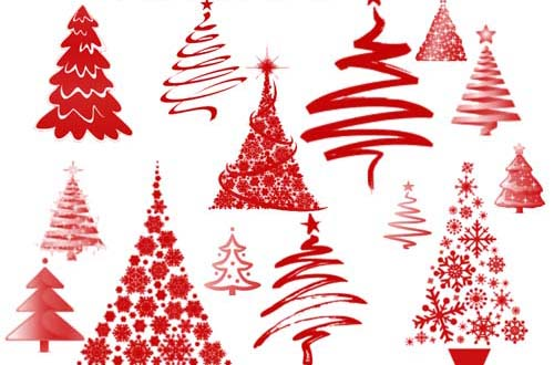 christmas tree and ornament brushes - Free Christmas Decorations