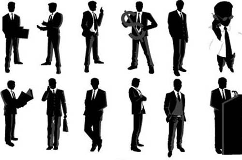 Businessmen Silhouettes Pack 2 Wedding Party Silhouette