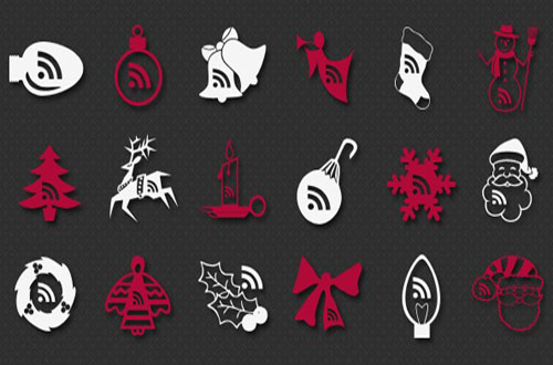 photoshop christmas shapes