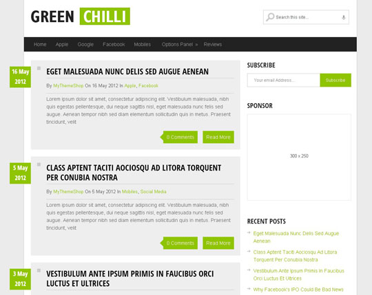 35 Best Free Responsive Wordpress Themes Of 2012 | Designbeep