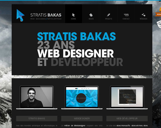 blue website