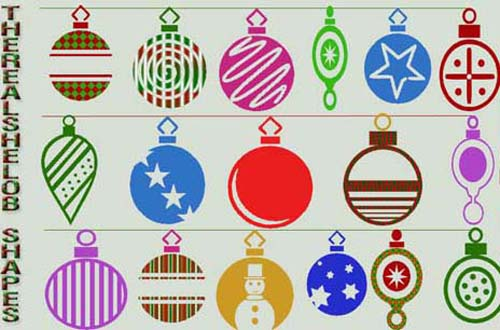 A Collection Of Free Christmas Shapescsh For Photoshop  Designbeep