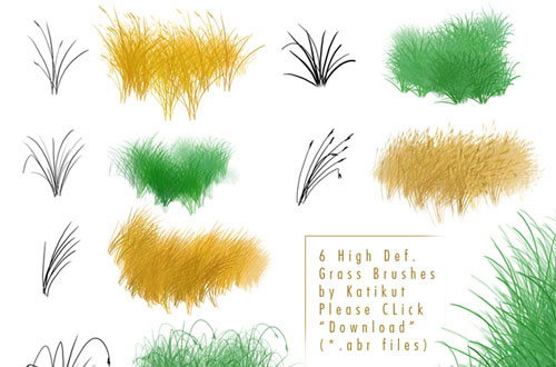 photoshop grass brush