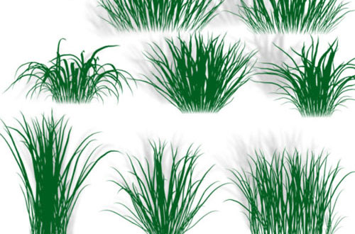 a collection of free grass brushes for photoshop