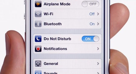 iphone 5 do not disturb