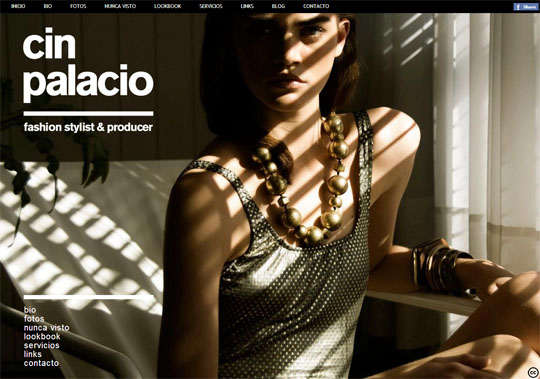 Websites with large photographic background