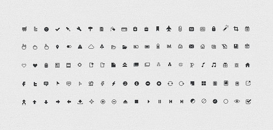 28.free pixel perfect icons