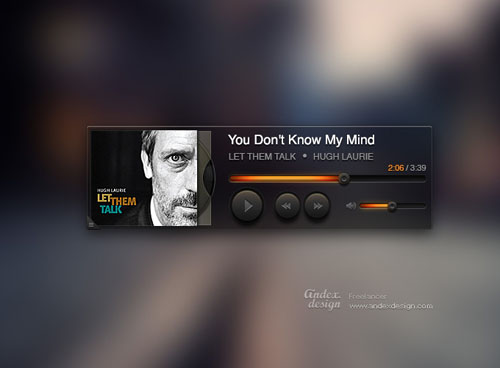 35 Cool and Free Music Player PSDs You Should See | Designbeep