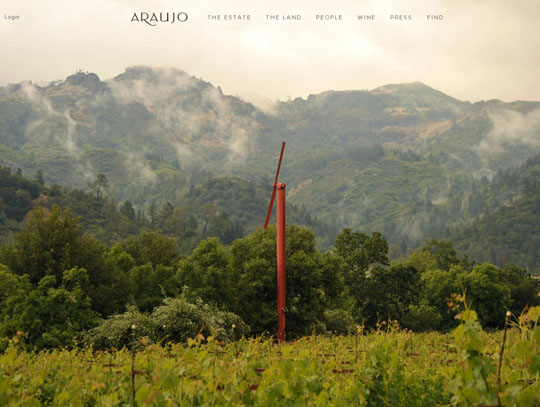 landscape photos in web design