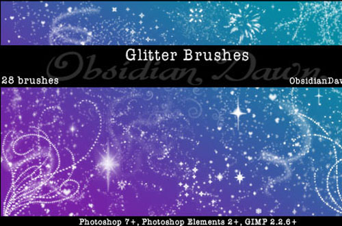 free photoshop sparkle brushes