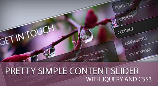27.jquery image and content slider plugin