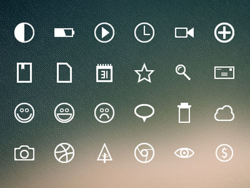 free outline icons