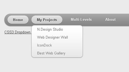 css3 html5 dropdown menu
