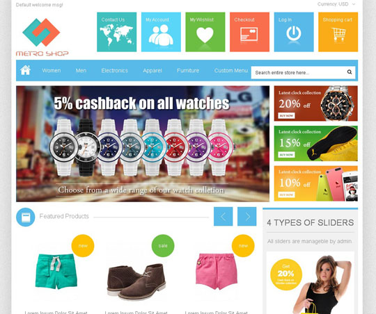 A Collection Of High Quality Responsive Magento Templates | Designbeep