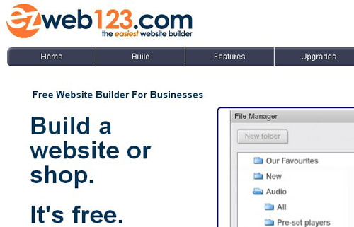 9.free website builder