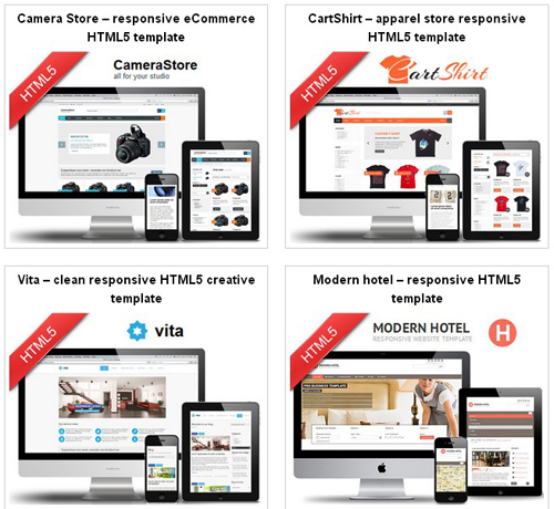 HTML5 Responsive Twitter Bootstrap templates