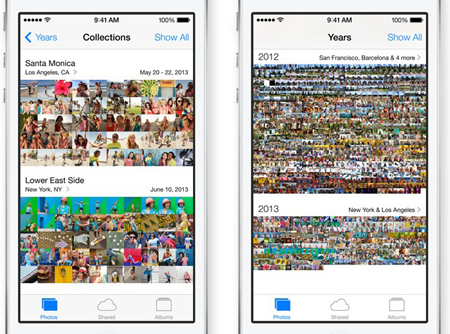 ios 7 photo library