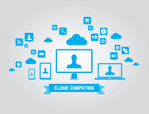 Cloud computing vector elements