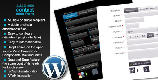 8.wordpress form plugin