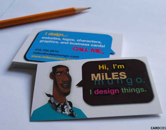 20 stunning cartoon style business card designs designbeep a business card is all about telling the world what you do these cards from miles mungo do exactly that and in a beautiful cartoon style too colourmoves Image collections