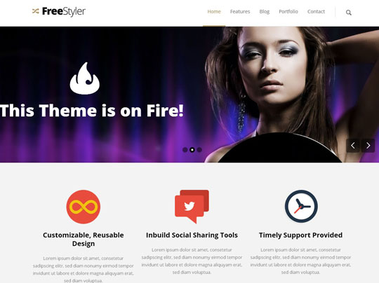 10.flat responsive wordpress themes