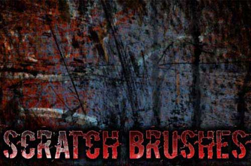 photoshop scratch brushes