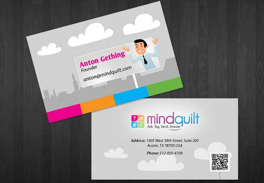 20 stunning cartoon style business card designs designbeep mindquilts business cards are pretty minimalistic and once again feature a cartoon style illustration of the companys founder anton gething colourmoves
