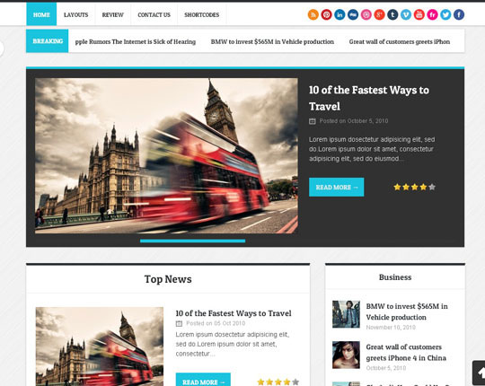 30 High Quality Wordpress Themes Perfect For Magazine Or News Blog Designbeep