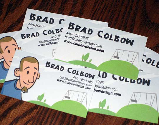 20 stunning cartoon style business card designs designbeep brad colbow colourmoves Image collections