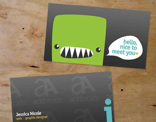 20 stunning cartoon style business card designs designbeep jessica nicole colourmoves
