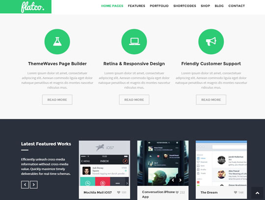 4.flat responsive wordpress themes