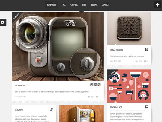 4.grid wordpress themes