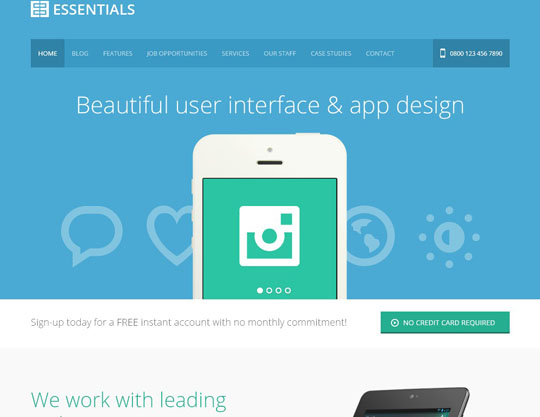 5.flat responsive wordpress themes