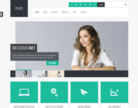 6.flat responsive wordpress themes
