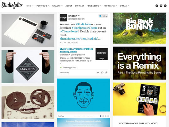 6.grid wordpress themes