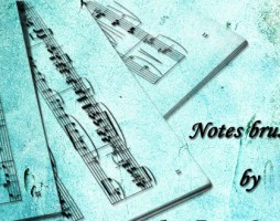 6.photoshop music note brushes