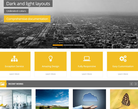 7.flat responsive wordpress themes