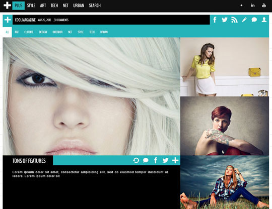 9.grid wordpress themes